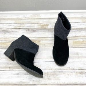 TOMS Leila Wool Suede Ankle Boots Size 9.5